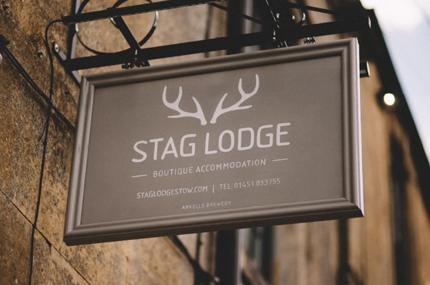 The Stag at Stow sign