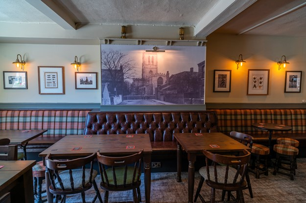 Fixed seating at The Bay Horse