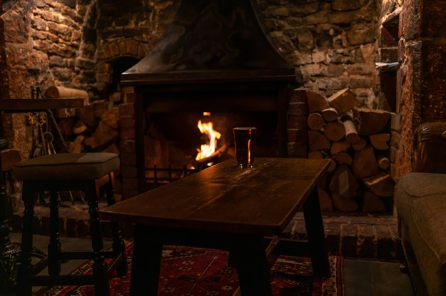 The Carpenters Arms - downstairs snug next to the fireplace