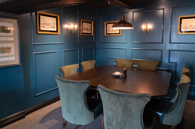 The Carpenters Arms - downstairs dining table and chairs