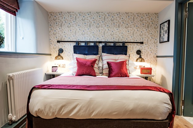 A bedroom at The Methuen Arms