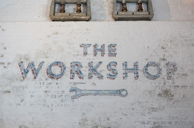 The workshop at The Half Moon